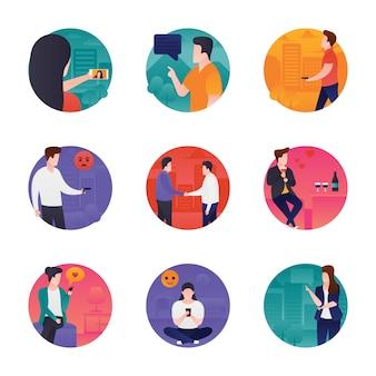 Ensemble d'icônes de communication