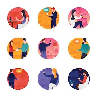 Ensemble d'icônes de conversation