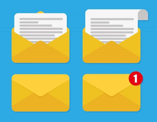 Ensemble d'icônes de courrier