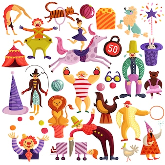 Ensemble d'icônes décoratif de cirque