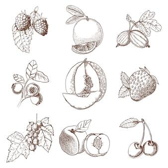 Ensemble d'icônes décoratives