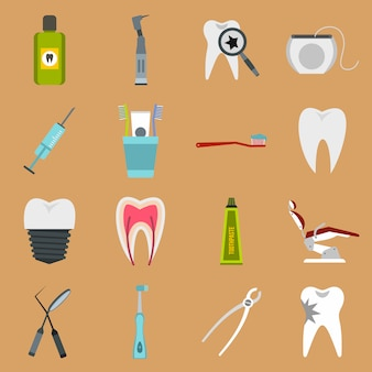 Ensemble d'icônes dentaires