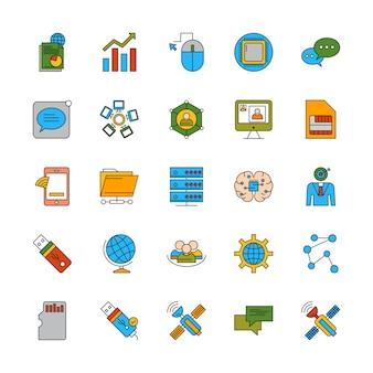 Ensemble d'icônes différentes