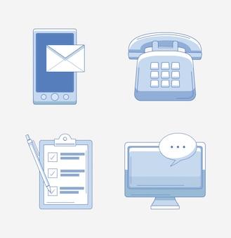 Ensemble d'icônes du service client