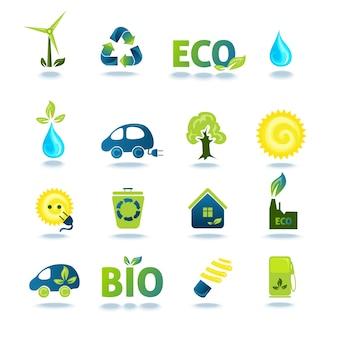 Ensemble d'icônes écologie