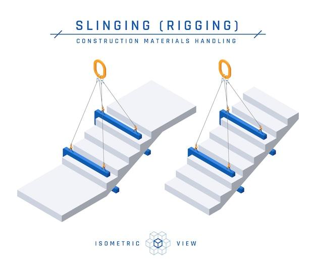 Ensemble d'icônes d'élingage d'escalier