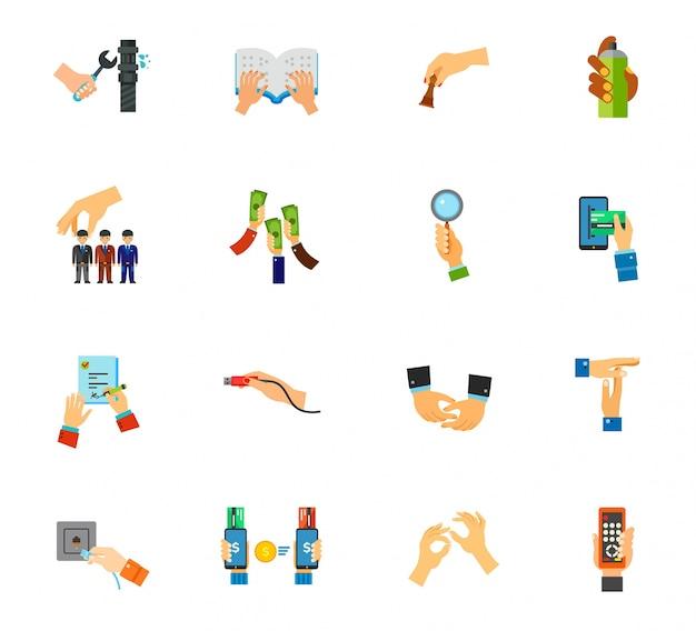 Ensemble d'icônes gesture