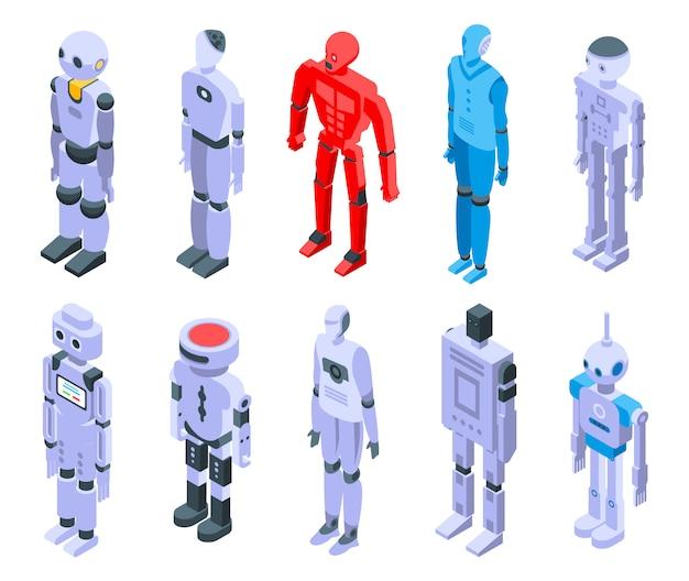 Ensemble d'icônes humanoïdes