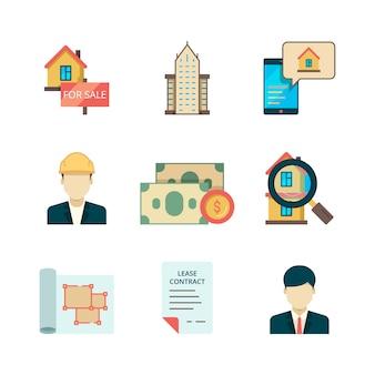 Ensemble d'icônes immobilières