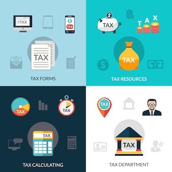 Ensemble d'icônes d'impôt