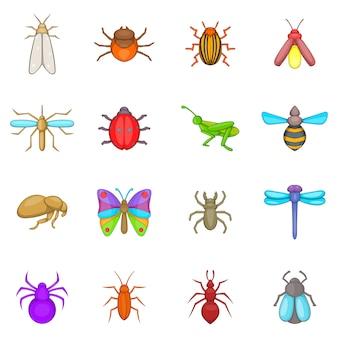 Ensemble d'icônes insectes