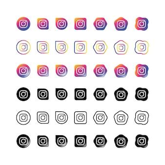 Ensemble d'icônes instagram