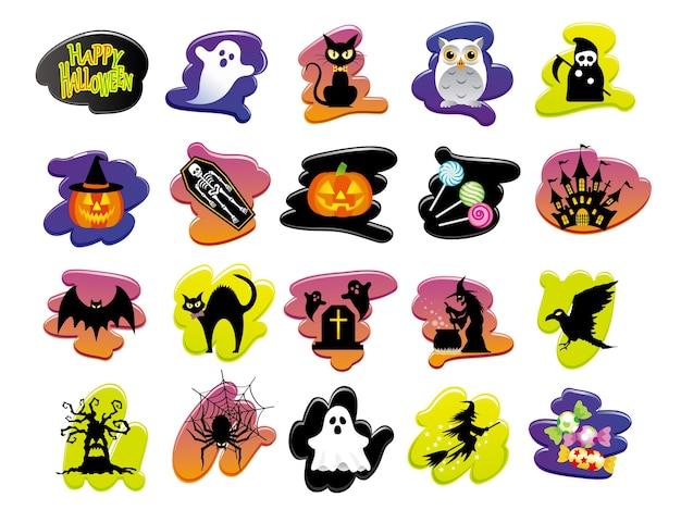 Ensemble d'icônes d'interface utilisateur happy halloween