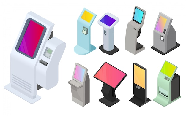 Ensemble d'icônes de kiosque
