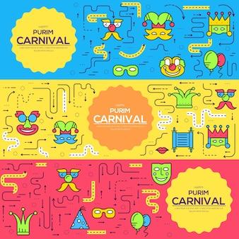 Ensemble d'icônes de lignes minces équipement de fête festival de célébration.