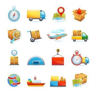 Ensemble d'icônes logistiques