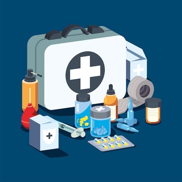 Ensemble d'icônes médicales et médicales