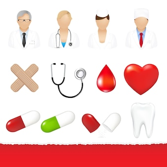 Ensemble d & # 39; icônes médicales