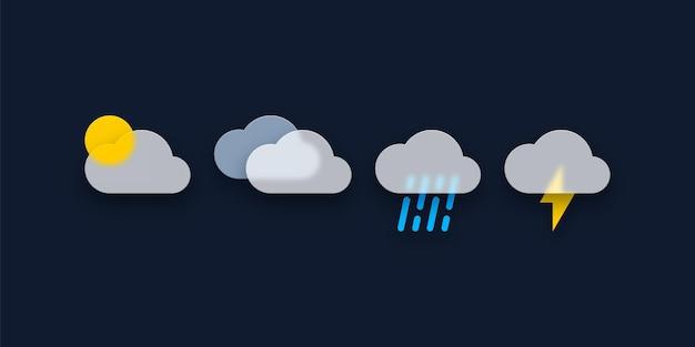Ensemble d'icônes météo