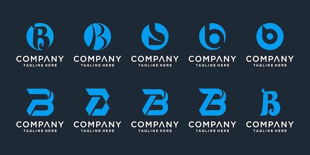 Ensemble d'icônes de modèle de conception de logo monogramme créatif lettre e pour les entreprises d'élégant simple