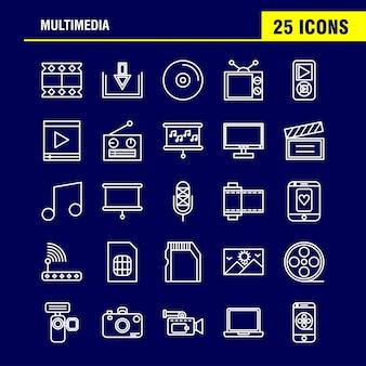 Ensemble d'icônes multimédia