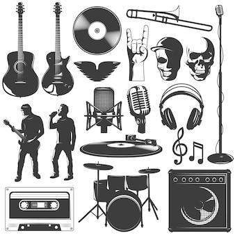Ensemble d'icônes de musique
