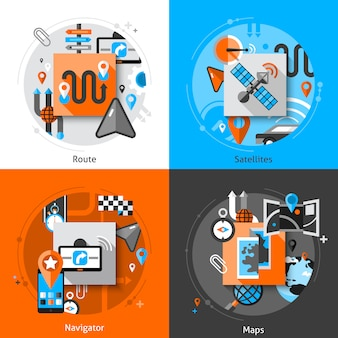 Ensemble d'icônes de navigation