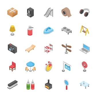 Ensemble d'icônes d'objets