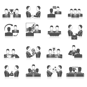 Ensemble d'icônes de partenariat