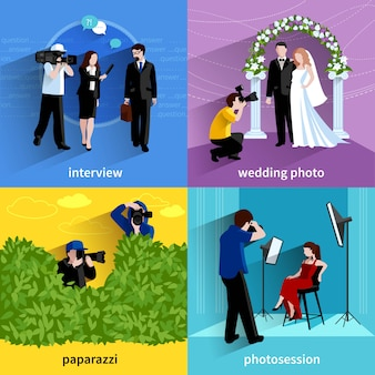 Ensemble d'icônes de photographe