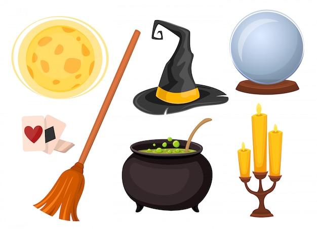 Ensemble d'icônes pour la divination et les tours de magie