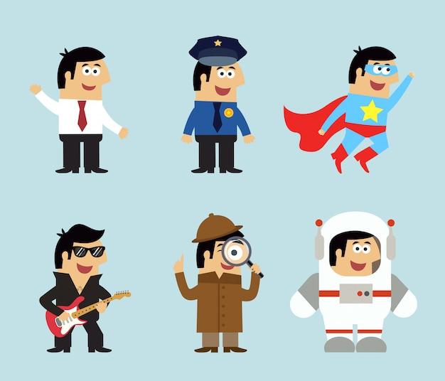 Ensemble d'icônes de professions