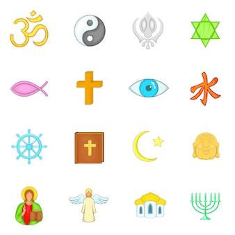 Ensemble d'icônes de religion