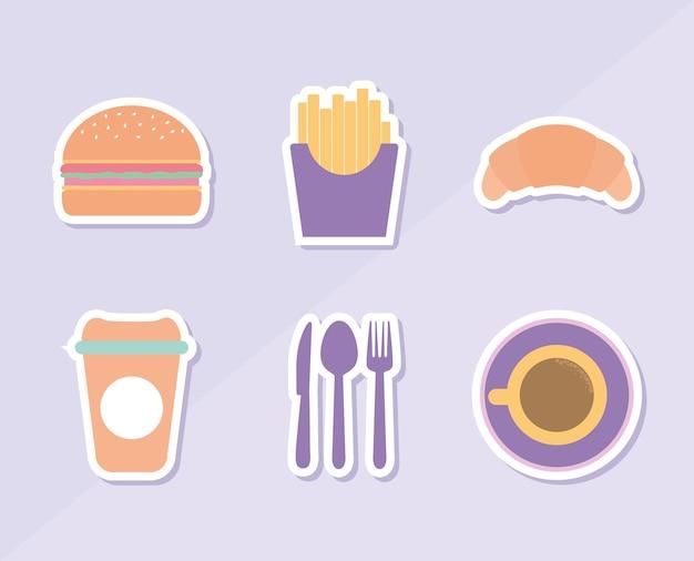 Ensemble d & # 39; icônes de restaurant