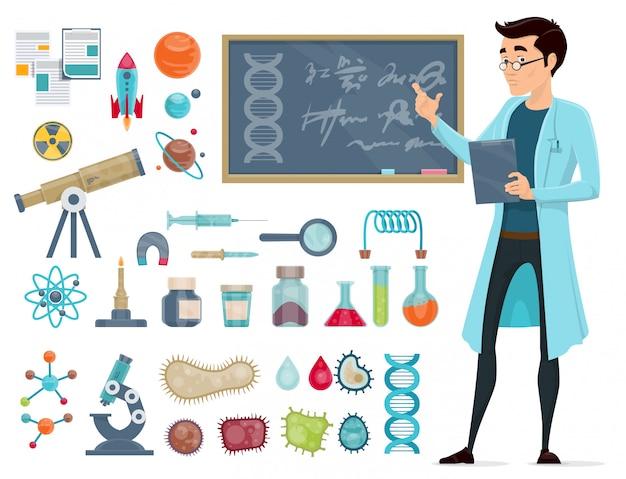 Ensemble d'icônes scientifiques