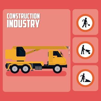 Ensemble d'icônes de signalisation de construction
