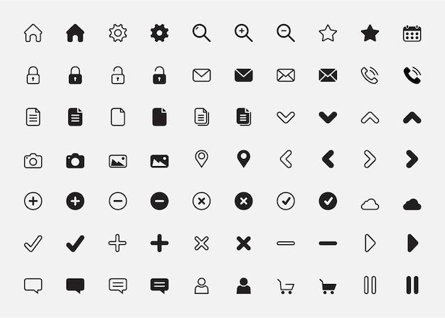 Ensemble d'icônes simples