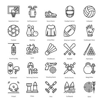 Ensemble d'icônes sportives