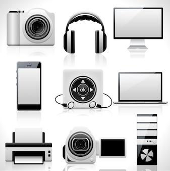 Ensemble d'icônes de technologie.
