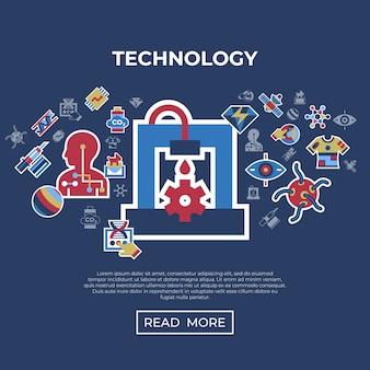 Ensemble d'icônes technologiques
