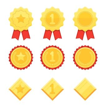 Ensemble d'icônes de trophée et de récompenses