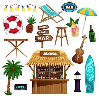 Ensemble d'icônes de vacances d'été