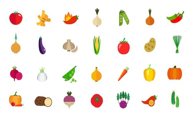 Ensemble d'icônes de la verdure