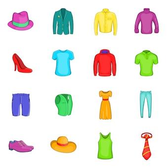 Ensemble d'icônes de vêtements