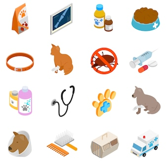 Ensemble d'icônes vétérinaires