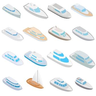 Ensemble d'icônes de yacht