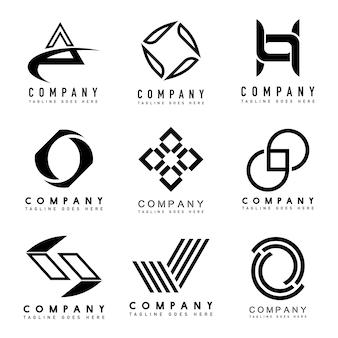 Ensemble d'idées de conception de logo d'entreprise