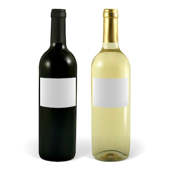 Ensemble d'illustration de bouteilles de vin