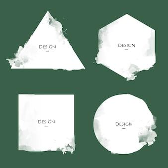 Ensemble d'illustration de conception de modèles de badge d'annonce