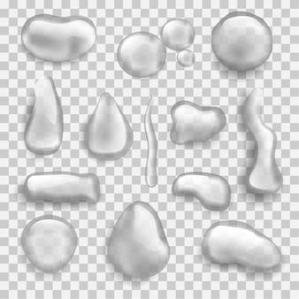 Ensemble d & # 39; illustration de différentes gouttes d & # 39; eau
